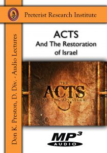 Acts - Restoration of Israel Front MP3